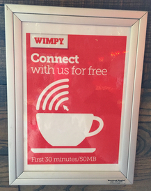 FREE Wifi at Wimpy